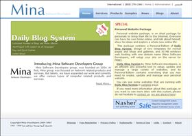 Mina Software Developers Website